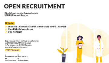 Open Recruitment: Mentor Farmasi
